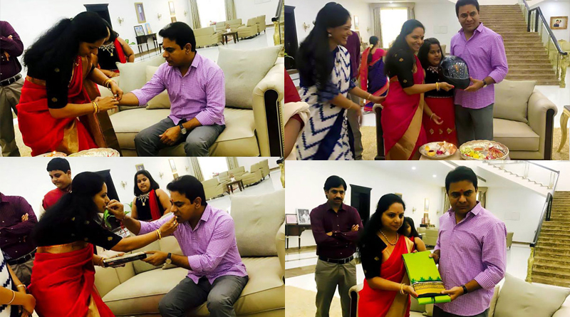 mp-kavitha-tied-rakhi-and-gifted-a-helmet-to-ktr