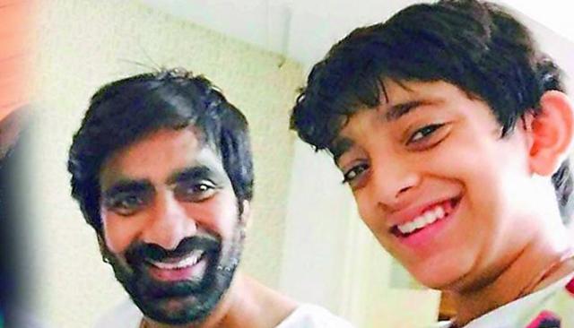 ravi-tejas-son-mahadhan-debut-in-raja-the-great